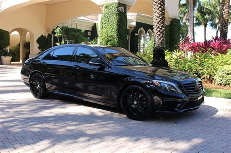 mercedes black on black 2016 mercedes w222 s550 all black benztuning