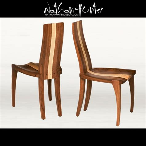 custom comfortable slim wood dining room chair with a