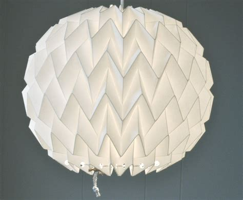 How To Make A Paper Light Shade - origami paper l shade white fiberstore by