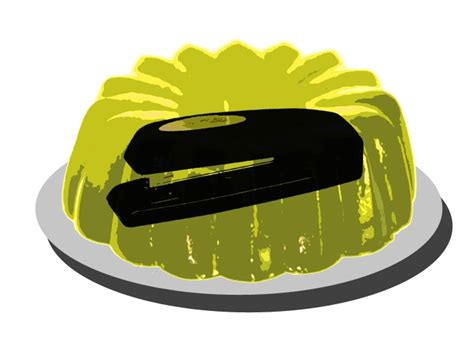 The Office Jello by Blank Card The Office Yellow Jello Stapler