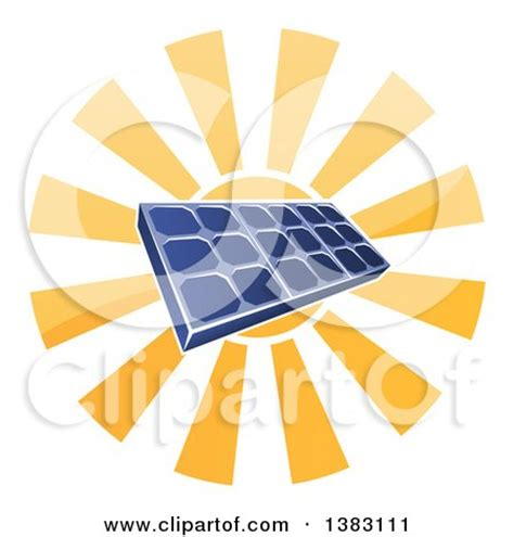 royalty free solar panel clip art vector images clipart of a sun shining behind a blue solar panel