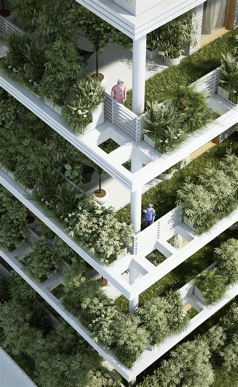 Gallery of penda designs sky villas with vertical gardens for hyderabad 10