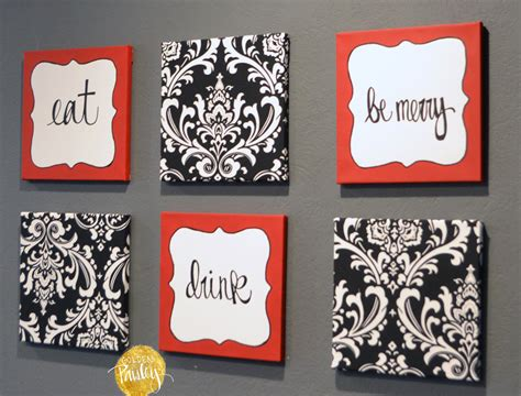French Themed Bathroom Red And Black Damask Eat Drink Be Merry Chef Wall Decor Set