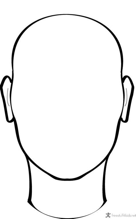 templates for drawing faces blank face to draw on projects to try pinterest
