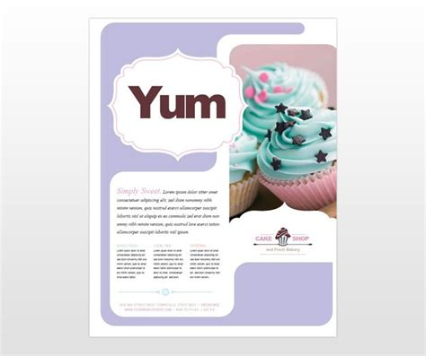 Bakery Flyer Template Bakery Cake Restaurant Flyer Template Bakrry Pinterest Flyer Cake Brochure Template Free