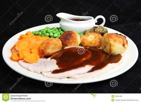 gravy boat littlehton lunch menu roast pork dinner with gravy stock photo image of