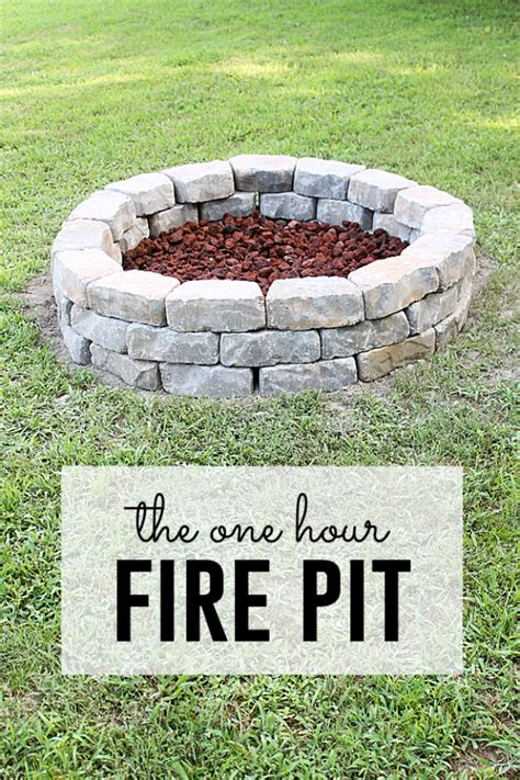 make a backyard fire pit 31 diy outdoor fireplace and firepit ideas diy joy