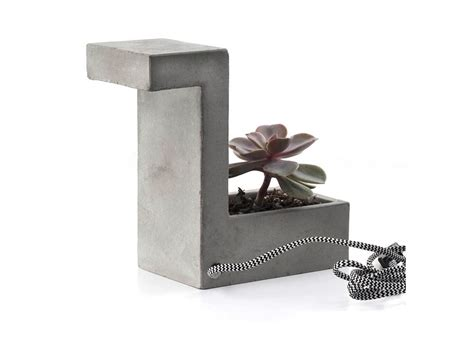 desk planter kikkerland concrete desk l planter 187 gadget flow