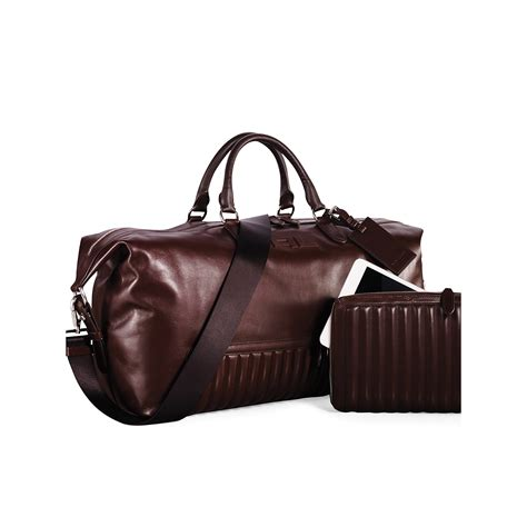 Erva Quilted Leather Bag by Ralph Quilted Leather Duffel Bag In Brown For