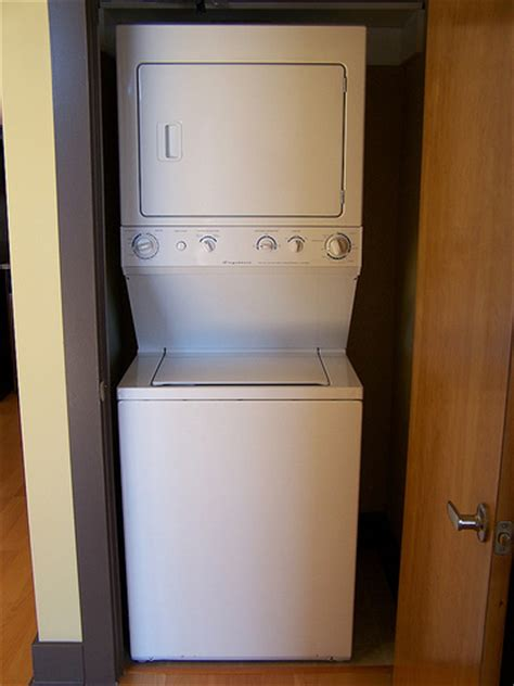 Washer Dryer Closet by Laundry Closet Stacked Washer Dryer In Unit Flickr