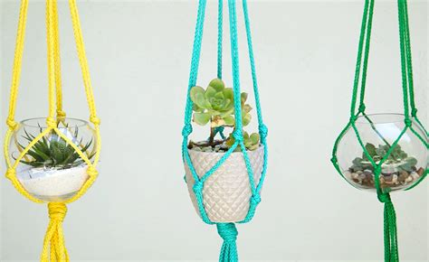 Make Your Own Macrame Plant Hanger - macrame plant hanger made in only five minutes