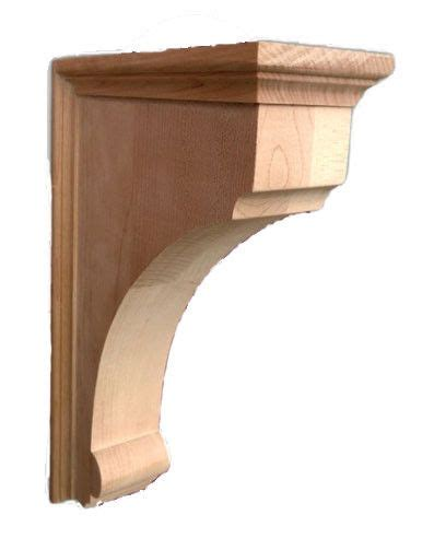 Plain Corbels 10 quot x2 1 8 quot wx7 quot d bottom curved small traditional plain corbel