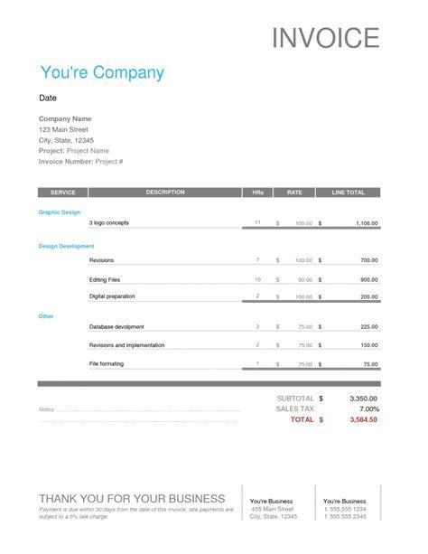 Invoice For Website Design Invoice Template Ideas Website Invoice Template