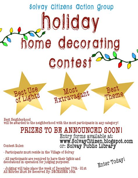 christmas contest voting flyer decorating competition ideas decorating