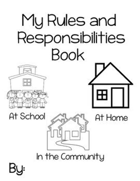 17 best images about responsibility on activity books teaching and activities