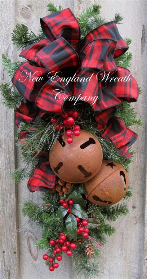 christmas swags for doors swag door wreath sleigh bells