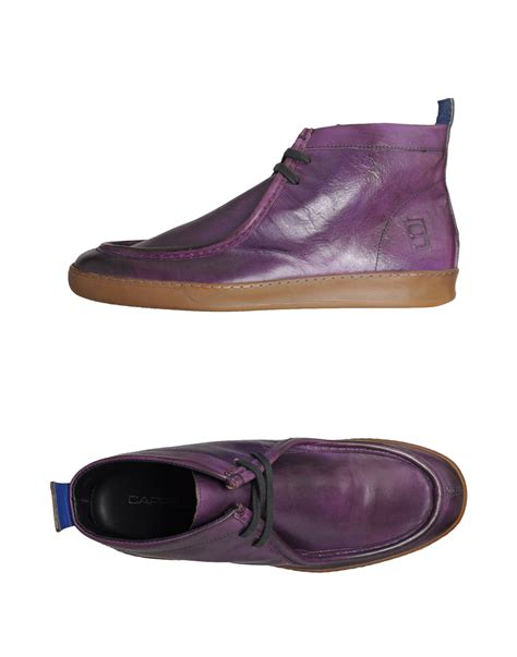 purple dress shoes cappelletti hightop dress shoe in purple for lyst