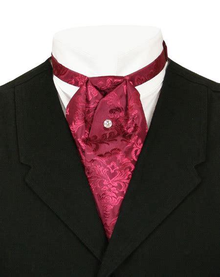 satin puff tie black cherry
