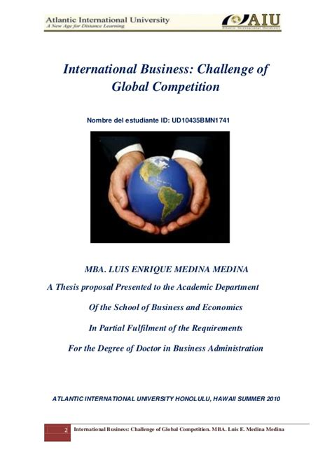 Uh Manoa Mba Requirements by Thesis Dba Bussines International Version Vii Phd Luis