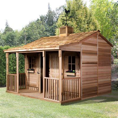 12x12 Shed For Sale Cedar Shed Rh1212 12 Ft X 12 Ft Ranchhouse Shed Lowe S