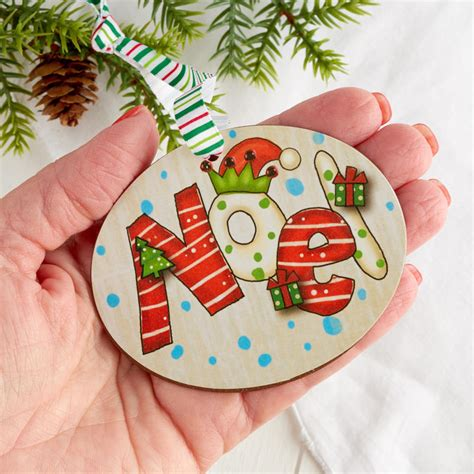 quot noel quot christmas ornament on sale holiday crafts