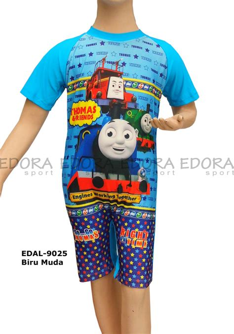 Anak Laki Laki Boy Celana Soft Gambar Bendera baju renang diving karakter edal 9025 biru muda distributor dan toko jual baju renang celana