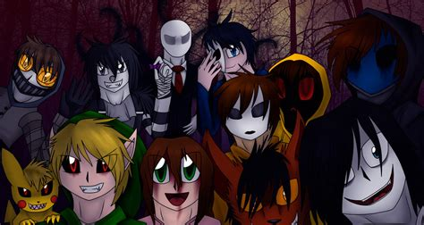 creepypasta family by marithehedgiewolf45 on deviantart