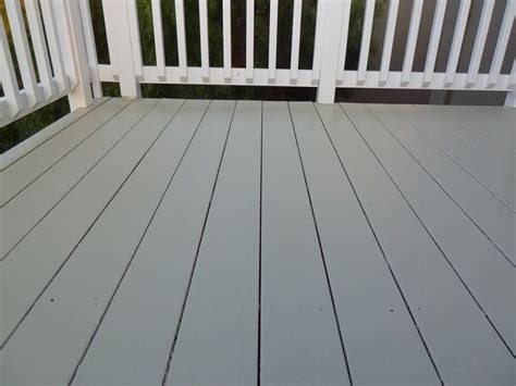 deck painting greygreen  white  projects