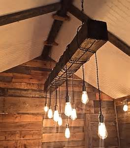 reclaimed wood chandelier reclaimed wood beam chandelier by chicagolights on etsy