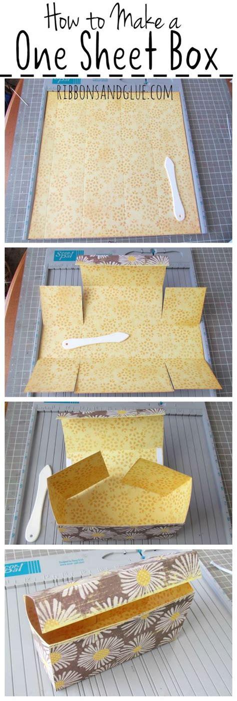 How To Make Handmade Sheet At Home - how to make a one sheet gift box pandora and