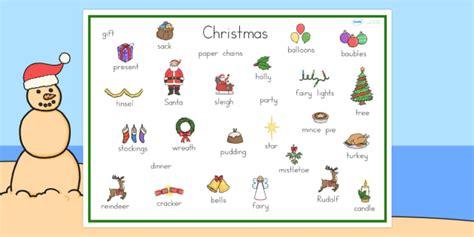christmas words that start with n australia word mat word mat keywords