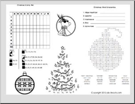 printable christmas activities for upper primary christmas activity mat holiday games and puzzles
