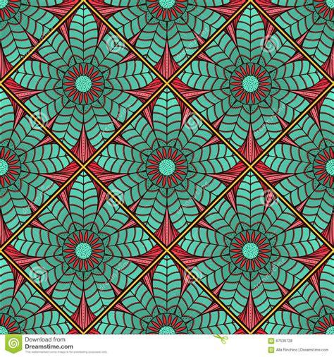 mosaic lotus pattern mosaic pattern of lotus mandala2 stock vector image