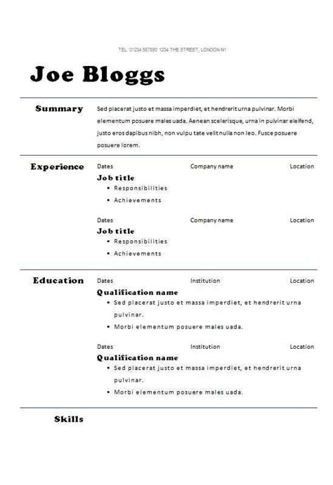 How To Write A Cv Template by Pin Exles Writing A Cv Curriculum Vitae Templates Tips