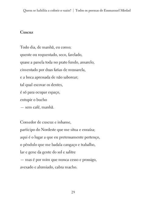 """Poema """"Cuscuz"""", de Emmanuel Mirdad"""