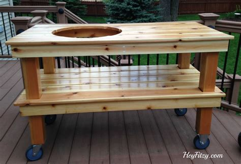 big green egg side tables the big green egg diy table hey fitzy
