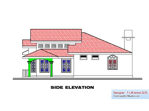 floor plan and elevation of a house kerala single floor house plan 1270 sq ft
