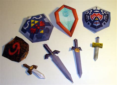 Papercraft Weapons - the castle craft gallery sah24