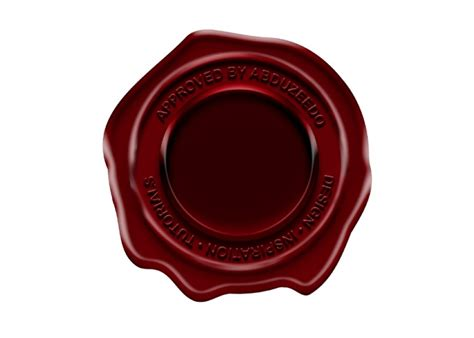 Wax Seal Candle easy wax seal in illustrator and photoshop