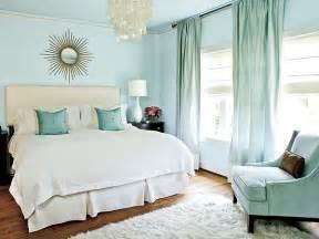 Decoration ideas for rooms with blue color themes curtains and wall