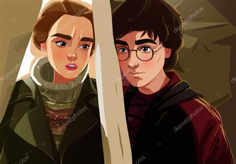 Hermione Granger Et Harry Potter by Harry Potter A Hermiona Stock Editorial Foto 169 Dariart
