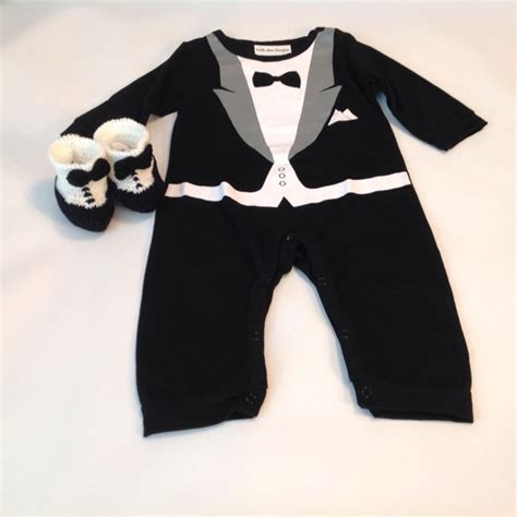 tuxedo baby rompertuxedo shoes formal suit baby boys