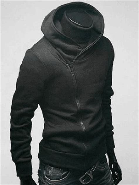 Chimney Neck Hoodie Mens - 2018 side zip up sleeve plain neck hoodie for in