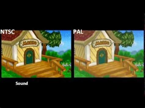 format video pal vs ntsc pal vs ntsc paper mario 64 youtube