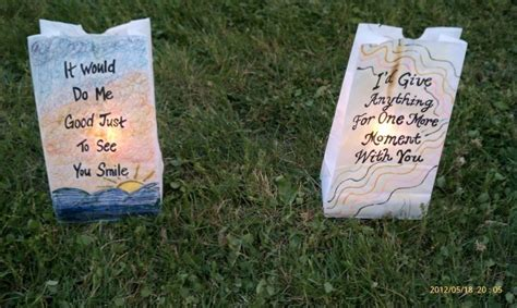 relay for bag decorated with quote relay for