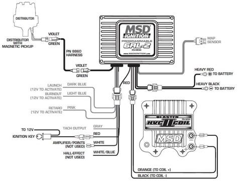 chevy small block msd 6al wiring diagram mallory ignition