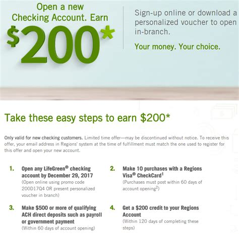 open a new bank account offers regions bank review 50 150 200 250 300 bonuses