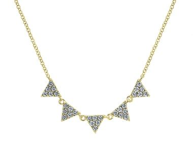 Triangle Layer 14k triangle layer fashion necklace legend jewelers