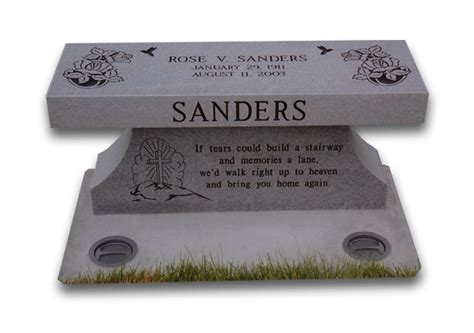 brass plaques for benches welcome silver diamond llc headstones granite markers