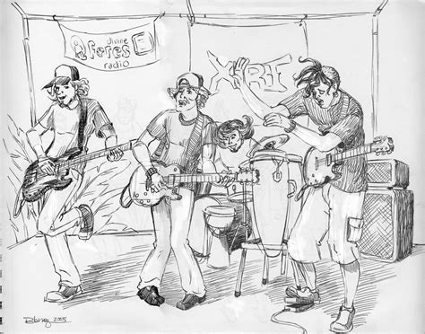 sketchbook band band sketches